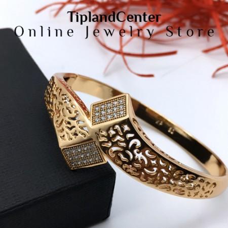 دستبند استیل زنانه شوپینگ